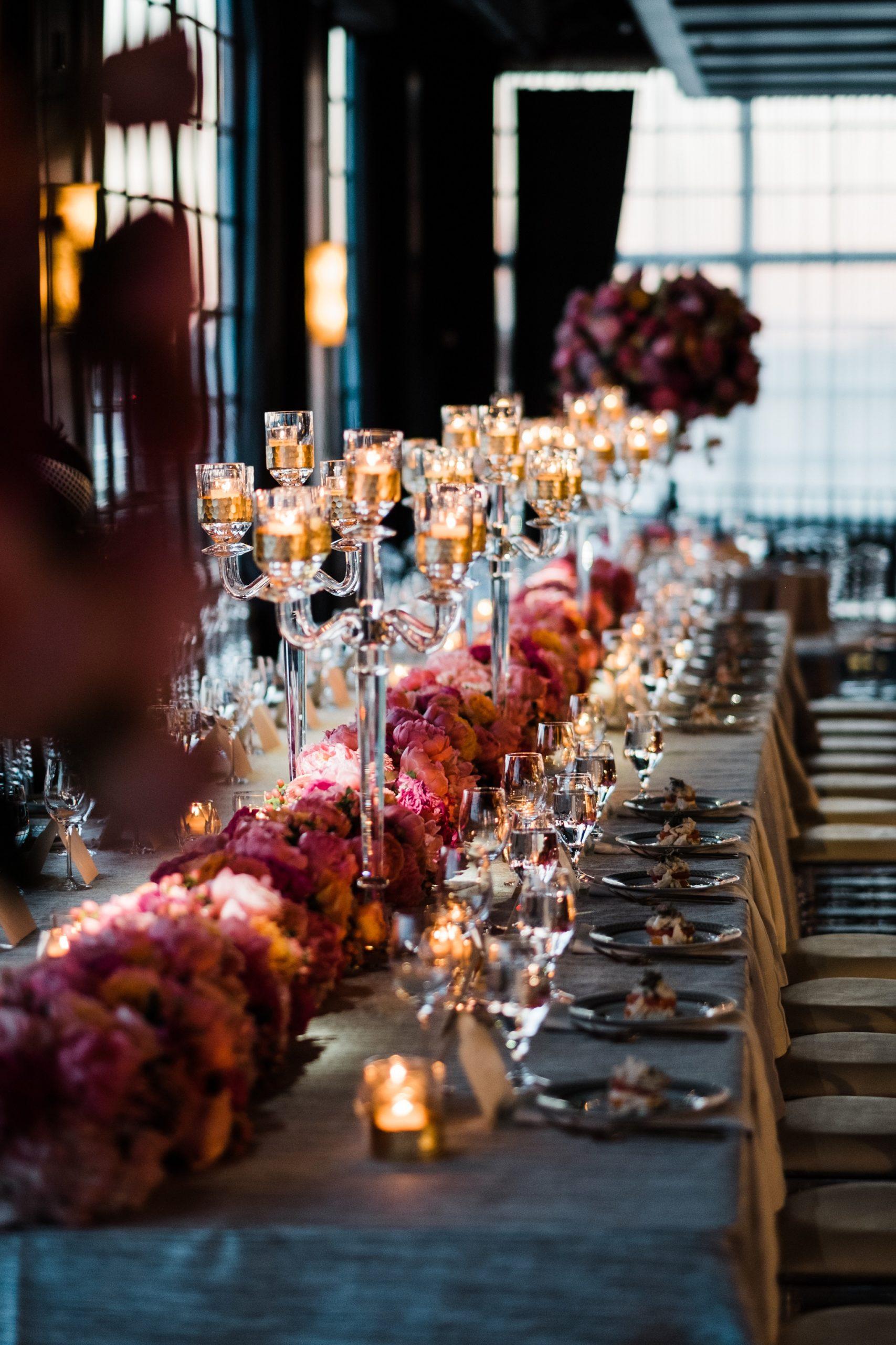 Wedding Reception Decor at The Astorian